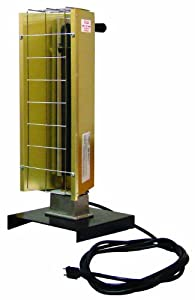 TPI Corporation FHK212-1CA Portable Electric Infrared Heater, Pre Wired, Metal Sheath, 15′ Length Cord, Grounded Plug