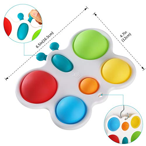 Anpole Butterfly Simple Dimple Fidget Toy, Baby Silicone Bubble Sensory Toys Early Developmental Toddlers Toy, Autism Special Needs Stress Relief Hand Toys Gifts for Kids Adults
