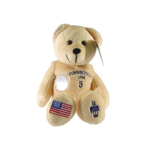 Quarter Timeless Bear Toys State - 1 X Connecticut State Quarter Bear Collectible Stuffed Bear by Timeless Toys