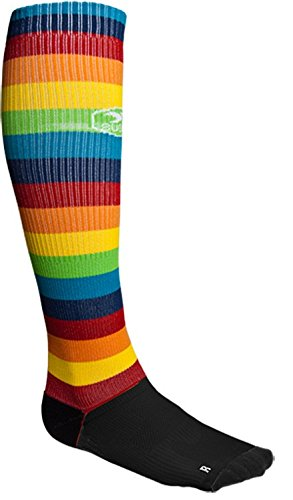 Sugoi Women's R + R Knee High Sock, Rainbow, Medium