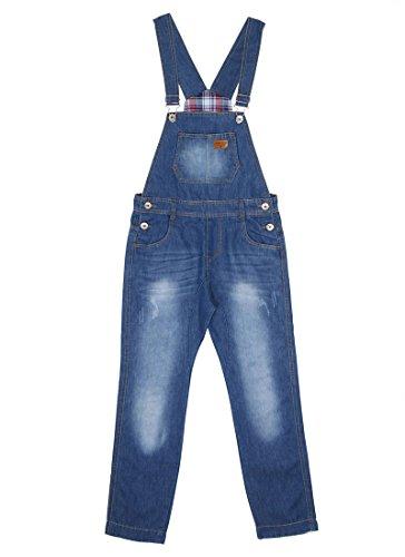 Childrens Darkwash Denim Dungarees Blue Slim leg dungarees age 6 8 10 12 KID047