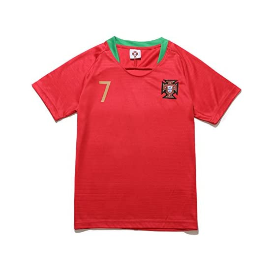 Sheki Portugal #7 Cristiano Ronaldo New Heim Maillot de Football pour Enfant