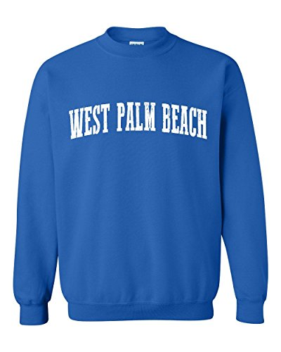 NIB West Palm Beach FL Florida Map Flag Miami Orlando Home Of University Of Unisex Crewneck - Beach Fashion Palm