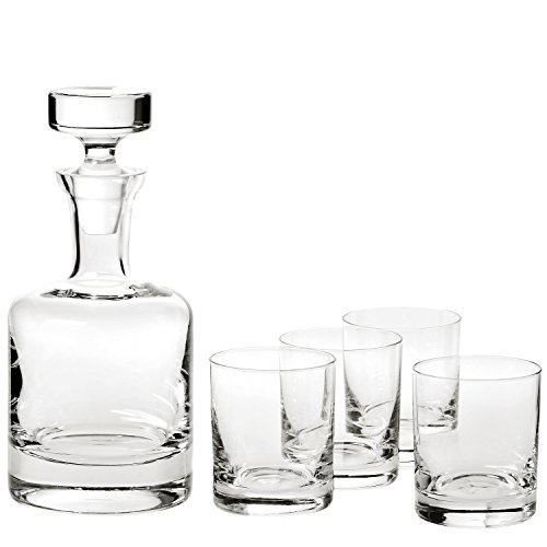 Lead Decanter Set Crystal (Ravenscroft Crystal Buckingham Decanter 125th Anniversary Limited Edition Gift Set. Includes Four (4) Crystal DOF Glasses, Plus One (1) Handmade European Lead-free Crystal Decanter.)