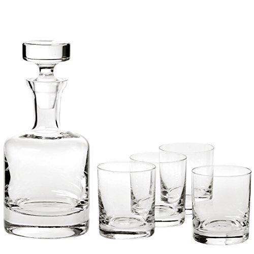 Ravenscroft Crystal Buckingham Decanter 125th Anniversary Limited Edition Gift Set. Includes Four (4) Crystal DOF Glasses, Plus One (1) Handmade European Lead-free Crystal -