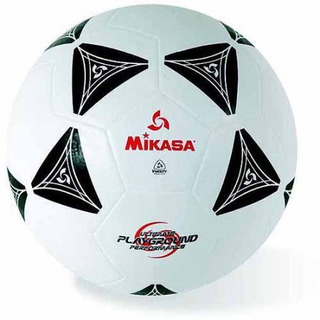 Mikasa Rubber Soccer Ball Size 5 Black and White