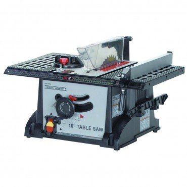 10 Inch 15 Amp Industrial Bench Table Saw With Blade Wrench, Miter Gauge,  Push Stick, And Rip Fence   Power Table Saws   Amazon.com
