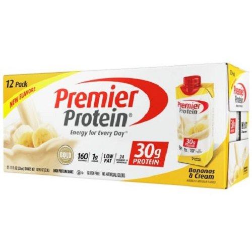 Premier Protein High Protein Shake, Bananas & Cream (11 fl. oz., 12 pack) (Pure Protein Shake Banana)