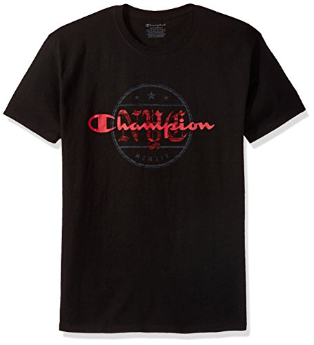 Alley Tee - Champion Men's Classic Jersey T-Shirt, Black/Alley, 4X Large