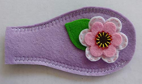 Cloth Eye Patch - White Flower on Purple Backing from Patch Me