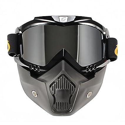 Alamor Moto A Prueba De Viento Gafas De Casco Con Máscara Extraíble Bicicleta De Montaña Montar