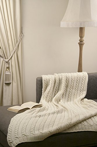 Merino Wool Throw Blanket - ToTing Handmade Classic Style 100% Merino Wool 70
