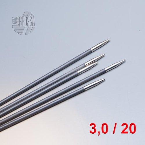 Lana Grossa Strumpfstricknadeln Karbon 20cm 6mm