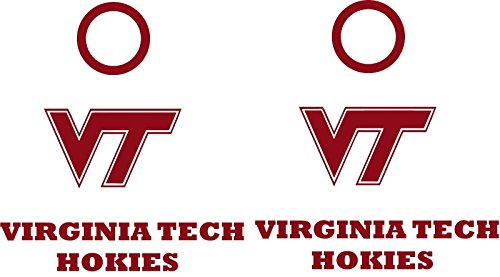 Virginia Tech Hokies Cornhole Decal Set - 6 Cornhole Decals Free Circles ()