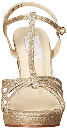 Dyeables, Inc Vrouwen Dames Kaylee Platform Jurk Sandaal Champagne Glitter