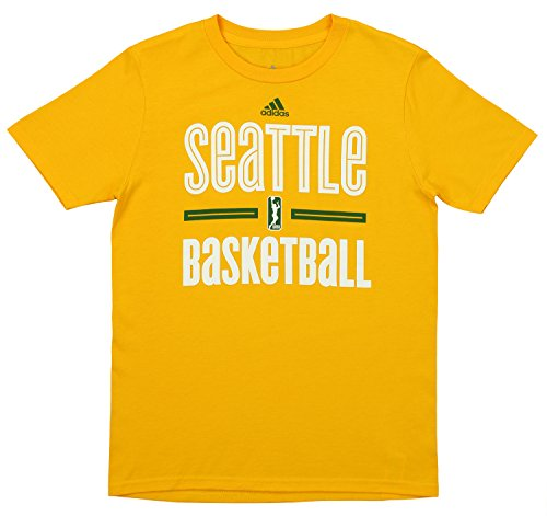 Storm Seattle Wnba - adidas WNBA Youth's Seattle Storm Short Sleeve Graphic Tee, Yellow X-Large (18)