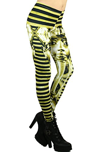 World of Leggings Gold Egyptian Pharaoh Leggings by World of Leggings