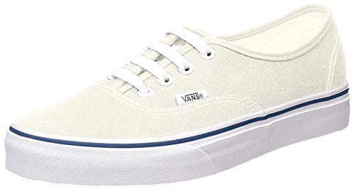 Vans Unisex's Vans Authentic Skate Shoes 8.5 (White/Off White) (Vans Cream Shoes)