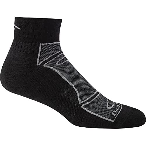 Discount Darn Tough Men's 1/4 Sock Light Cushion (Style 1723) Merino Wool - 6 Pack Special
