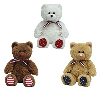 b887c2f9f5d TY Beanie Babies - UNCLE SAM Bears (Set of 3 - Light Brown