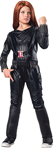 Avengers Black Widow Marvel Girls Costume Deluxe (Girls Black Widow Costume)