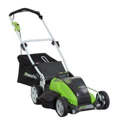 Greenworks G-MAX 19 in. 40-Volt Lithium-Ion Cordless Battery Push Lawn Mower - Battery and Charger Included by GreenworksGW