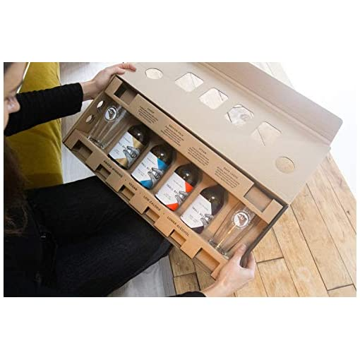 41hu%2Bt1TEFL Small-Beer-Low-Alcohol-Beer-Beer-Gift-Pack-4x350ml-bottles-and-2-glasses