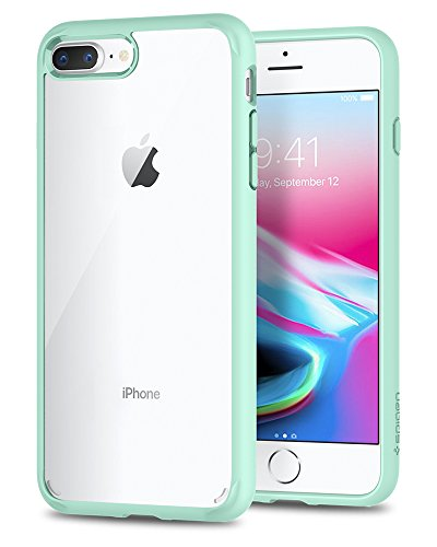 Spigen Ultra Hybrid [2nd Generation] iPhone 7 Plus Case / iPhone 8 Plus Case with Clear Backing Camera Protection and Air Cushion Technology for iPhone 7 Plus (2016) / iPhone 8 Plus (2017) – Mint