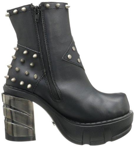 Zapatos 64 Mujer Sinister Vegan Schwarz Leather Schwarz Blk Demonia USxAwnqq
