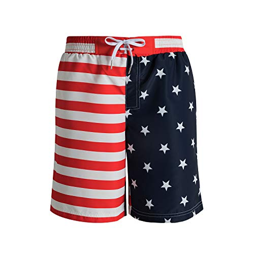 - MOHEEN Mens Quick Dry Printed Short Swim Trunks with Mesh Lining Swimwear Bathing Suits (US Flag, XXX-Large)