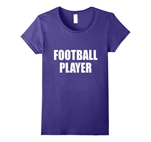Womens Football Player T Shirt Halloween Costume Retro Distressed Large (Halloween Female Football Player Costume)