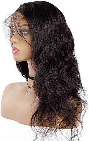 Sedittyhair MALAIKA Full Lace Wig with baby Hair 14 inch Lace Human Hair Wigs for Black Women Brazilian Body Wave Lace Wigs with Pre Plucked Hairline 130% Density
