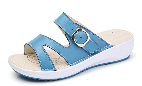 Slip de Femme On Bleu Plage Chic Mules Chaussure Easemax XUtqAwX