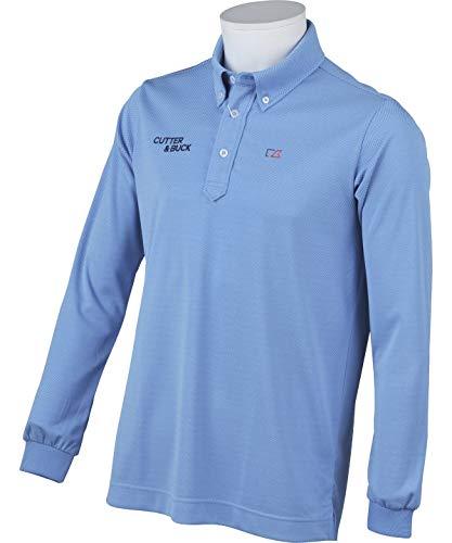 カッター&バック ゴルフウェア ポロシャツ 長袖 メンズ バーズアイ鹿の子長袖シャツ CGMMJB02 BL00 LL