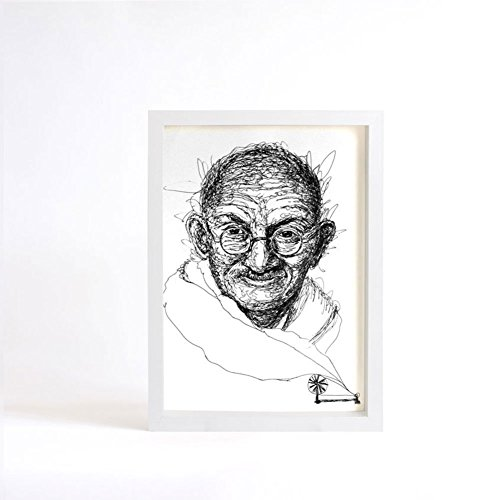 Cool Pop Art Costumes (Gandhi Portrait, Decor Print, Black and White Art, Art Wall Decor)