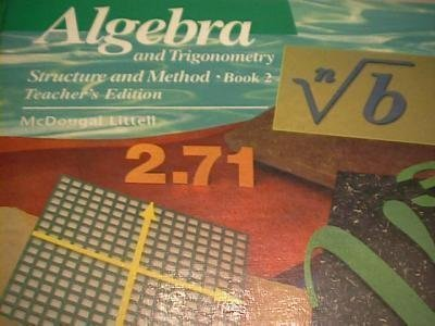 Algebra and Trigonometry Structure and Method, Book 2, Teacher's Edition by Richard G. Brown (1990-01-01)