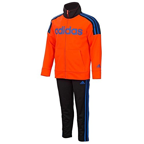 Athletic Kids Track Jacket - adidas Boys Tricot Tracksuit Jacket and Pant Set (2T, Red Orange)