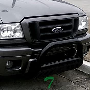 Amazon Com Matte Blk Steel Bull Bar Brush Push Bumper Grill Grille