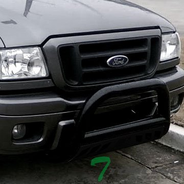 Topline Autopart Black HD Heavyduty Bull Bar Brush Push Front Bumper Grill Grille Guard w/ Skin Plate 98-11 Ford Ranger