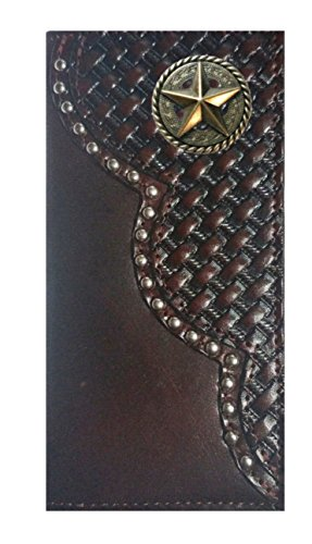 Garland Weave Checkbook Custom Basket USA Black THE Wallet Star Fancy Cherry MADE Long Leather Proudly IN 4rq4twUY