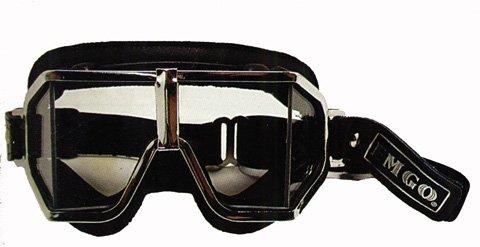 Emgo Roadhawk Vinyl Classic Split Lens Goggles (Black) Emgo Goggles