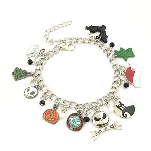 Blingsoul Nightmare Charm Bracelet - Before Christmas Cosplay Jewelry Gifts for Women