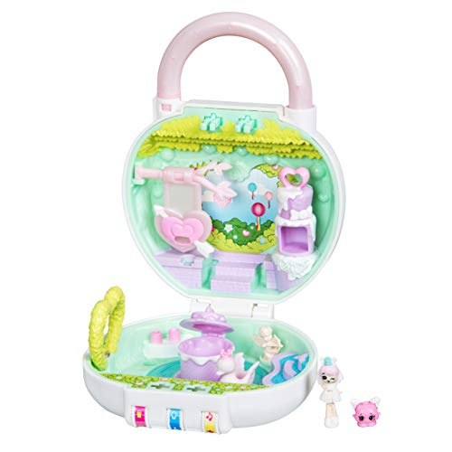 (Shopkins Lil' Secrets Playset - Collectable Mini Playset with Secret with Shoppie & Shopkin Toy Inside- Lovely Hearts Garden Party)