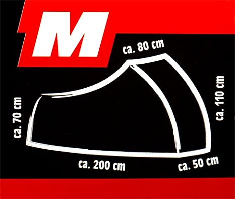 CRIVIT/® Motorrad-Faltgarage mit Kennzeichenfenster Gr. L - 235 x 80//60 x 128//98 cm