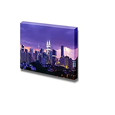 Canvas Prints Wall Art - Kuala Lumpur Cityscape/Skyline at Night | Modern Wall Decor/Home Decoration Stretched Gallery Canvas Wrap Giclee Print & Ready to Hang - 16