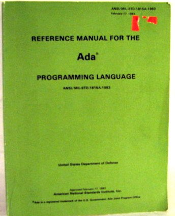 Reference Manual for the Ada Programming Language by United States Government Printing