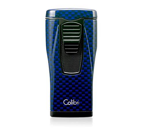 Colibri Monaco Triple Flame Lighter - Blue Carbon Fiber Print ()