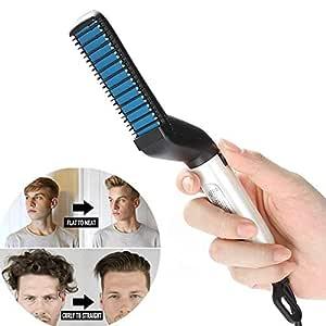 Sunvito Beard Straightener,Styling Straightener Comb for Men,Multifunctional Professional Electrical Beard Straightener