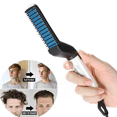- Sunvito Beard Straightener,Electric Hair Straightener Brush,Multifunctional Professional Styling Straightener Comb for Men