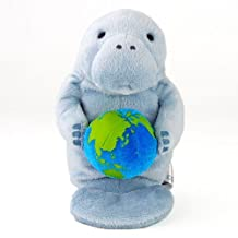 Realistic stuffed manatee child Sit series